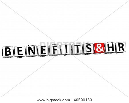 3D Benefits And Hr Button Click Here Block Text