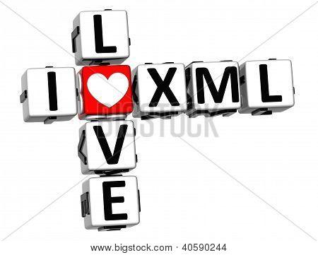 3D I Love Xml Crossword