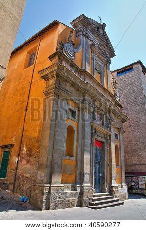 Church of St. Maria del Suffragio. Viterbo. Lazio. Italy.