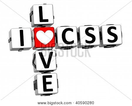 3D I Love Css Crossword