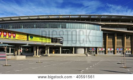 BARCELONA, SPAIN - DECEMBER 18: Nou Camp on December 18, 2012 in Barcelona, Spain. This  football stadium, the largest in Europe, has been the home of Futbol Club Barcelona since 1957