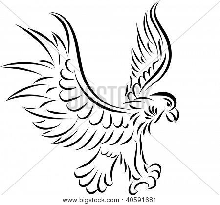 Abstract tattoo eagle