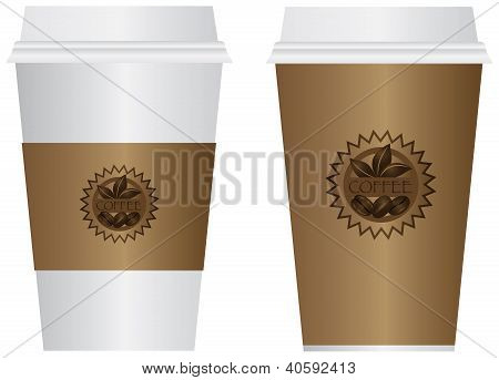 Coffee To Go Cups Illustration