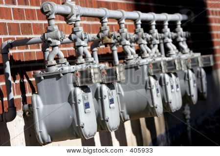 Row Of Utility Meters