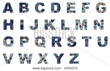 Alphabet Iznik Tiles From Turkey