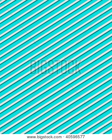 Diagonal Stripe With Shadow On Teal