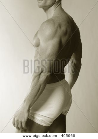 Traseira masculina na cueca