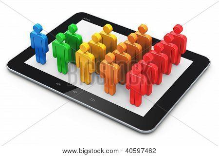 Concepto social de la gestión de la red y el cliente