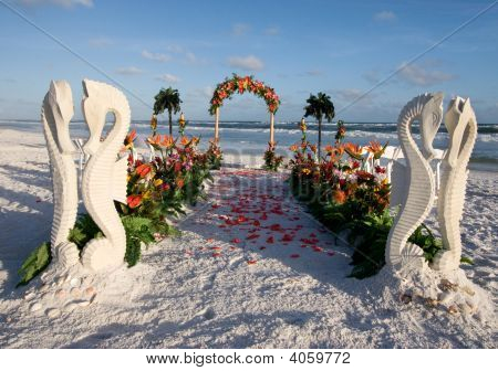 Beach Wedding Path & Archway