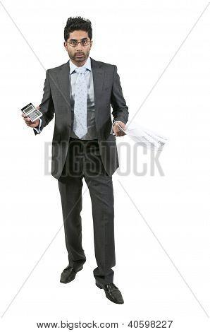 Mann mit Steuern