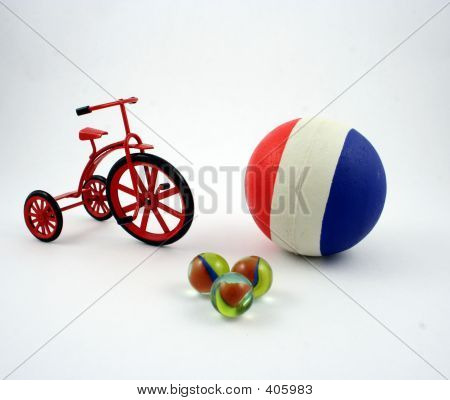Ball, Trike And Marbles