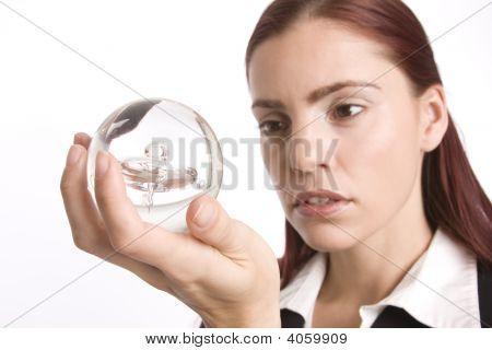Checking Her Crystal Ball