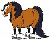 stock photo of clydesdale  - cartoon horse heavy clydesdale breed - JPG
