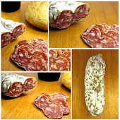 image of charcuterie  - Several photos assembled to build a boloney image - JPG