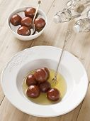 picture of gulab  - close up of indian dessert gulan jamun - JPG