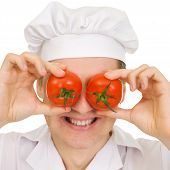 Cook With Red Tomato poster