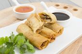 stock photo of por  - Spring Rolls  - JPG