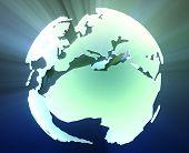 Globe Europe Africa poster