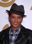 LOS ANGELES - NOV 30:  BRUNO MARS arrives to the Grammy Nominations Concert Live 2011  on November 3