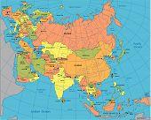 Political Map Of Eurasia