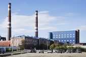 stock photo of murmansk  - Kandalaksha aluminium plant - JPG
