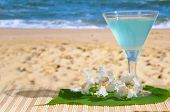 foto of beach party  - A glass of Cocktail at the Beach - JPG