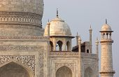 stock photo of mausoleum  - mausoleum named Taj Mahal in Agra India at evening time - JPG