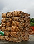 image of waste disposal  - a stack of paper waste before shredding - JPG