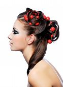 Profile Of Creativity Hairstyle And Fashion Make-Up poster