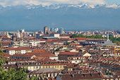 stock photo of turin  - View of the city of Turin - JPG