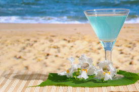 picture of beach party  - A glass of Cocktail at the Beach - JPG