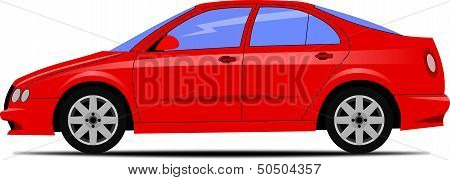 Design of red car