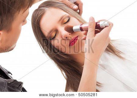 Makeup Applying.