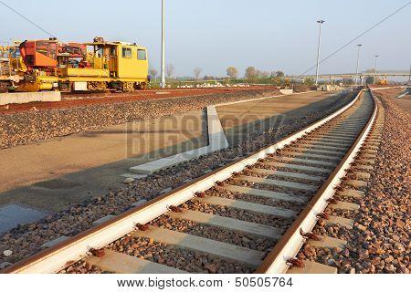 Railroad Track Construction Site