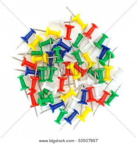 thumb-tacks isolated on a white background