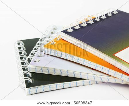 Stack Of Ring Binder Book