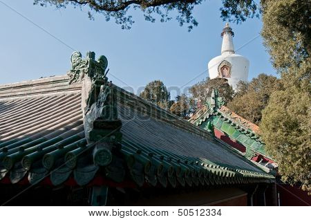 White Dagoba In Beijing