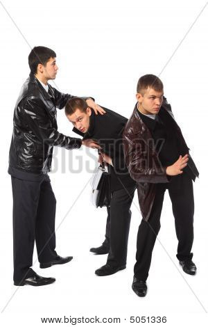 Two Bodyguards Protect Businessman