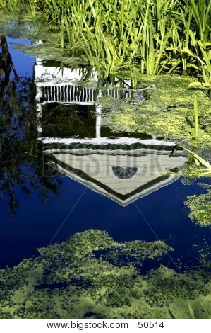 House Reflected In Water Celebration Florida United States Usa