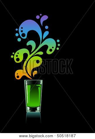 Glass of absinthe