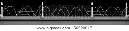 Barbwire Wall Background With Clipping Paths