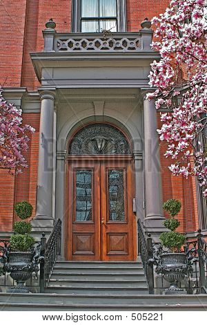 Brownstone Entrance Illustration