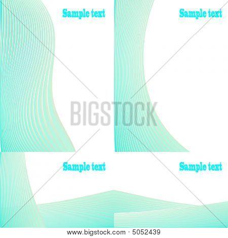 Set Of Blue Backgrounds