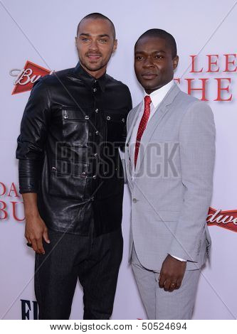 LOS ANGELES - AUG 12:  Jesse Williams & David Oleyowo arrives to