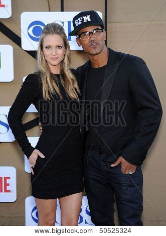 LOS ANGELES - AUG 04:  AJ Cook & Shemar Moore arrives to CBS Showtime CW All Star Winter TCA Party 2013  on July 29, 2013 in Beverly Hills, CA