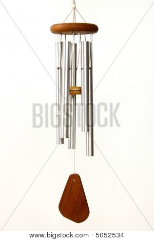 Wind Chimes On White Background