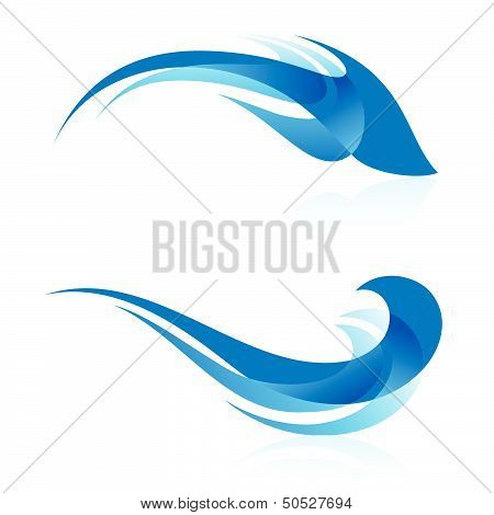 Smooth abstract forms in blue.