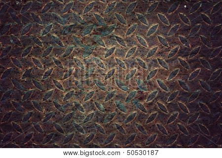 Old Pattern Style Of Steel Floor For Background