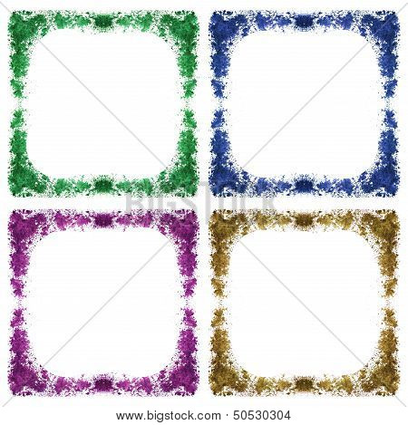 Abstract Farme Watercolor Background