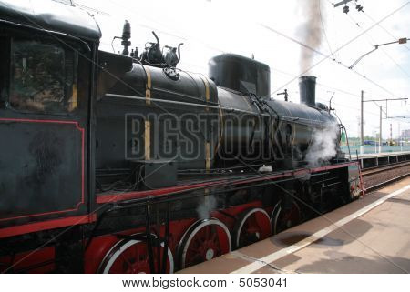 Steam Locomotive, Side View
